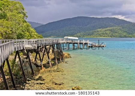 Long Island Whitsundays Queensland Australia - stock photo