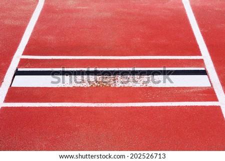 long jump - stock photo