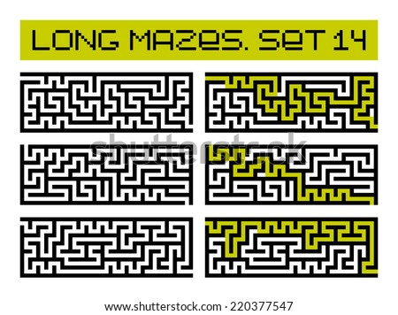 long mazes set 14 - stock photo