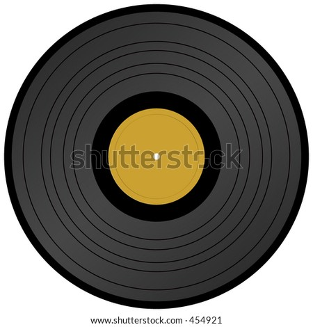 Long Play vinyl record - stock photo