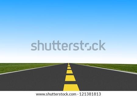 long road ahead - stock photo