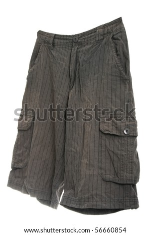 Long shorts isolated on white background - stock photo