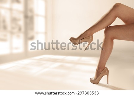 long woman legs  - stock photo