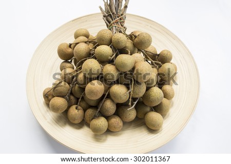 longan Thai tropical fruit herb sweet closeup - stock photo