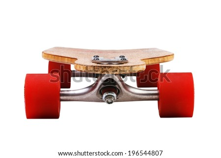 Longboard skateboard close-up - stock photo