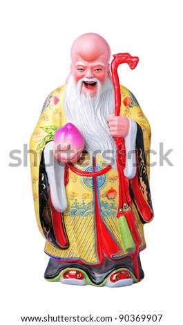 Longevity immortal with longevity bun in white background - stock photo