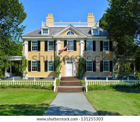 Longfellow House in Cambridge, Massachusetts - USA - stock photo