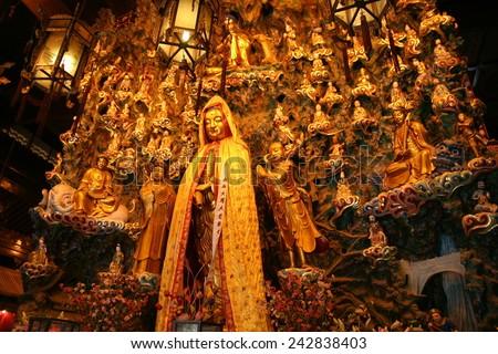 Longhua temple in Shanghai - stock photo