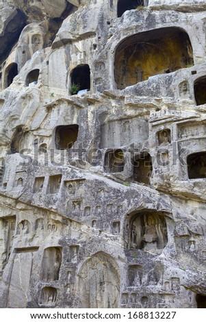 Longmen Grottoes, Luoyang, China - stock photo