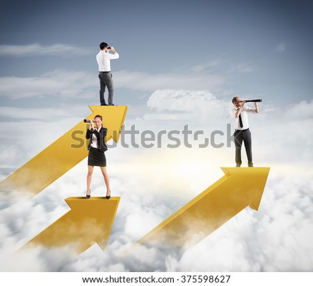 Look beyond - stock photo