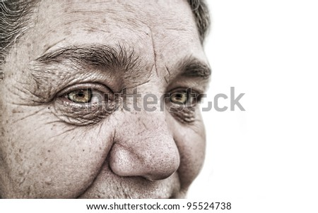 look of a old woman - stock photo