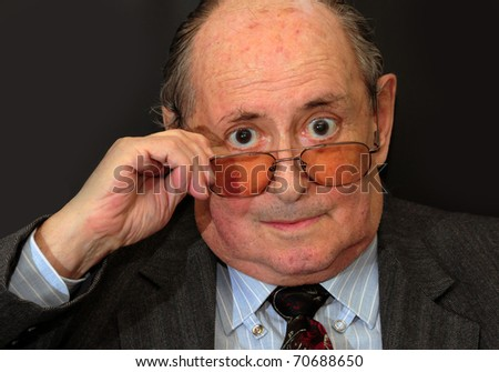 Look older man - stock photo