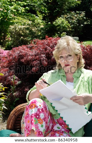 Look over the contract - stock photo