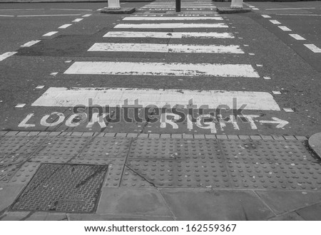 Look Right sign in a London street - stock photo
