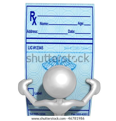 Looking At Medical Prescriptions - stock photo