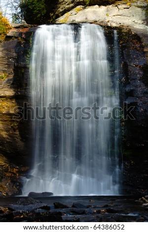 Looking Glass Falls in North Carolina - stock photo