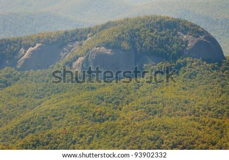 Looking Glass Rock mountain - stock photo