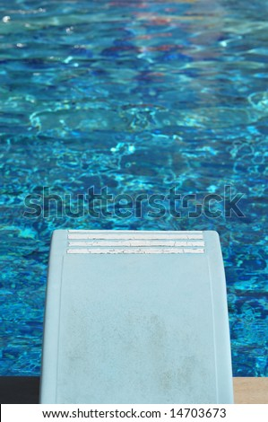 Looking on the diving board - stock photo