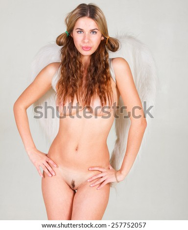 Looking Sexy Charming and Naked  - stock photo