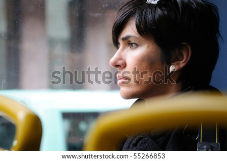 Looking through the glass - stock photo