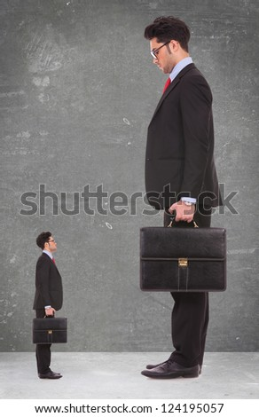 looking up to the man i want to be when i grow up - business concept - stock photo