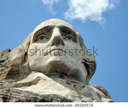 looking up to Washington - stock photo