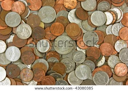 Loose change - stock photo