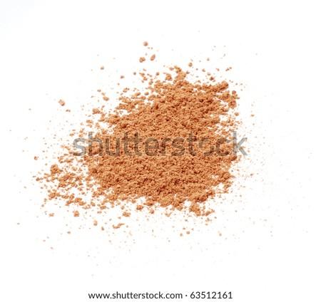 Loose Face Powder - stock photo