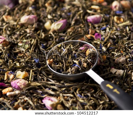 Loose Lavender Tea - stock photo