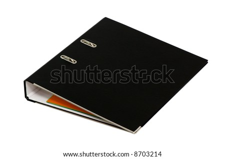 loose-leaf binder on a white background. - stock photo