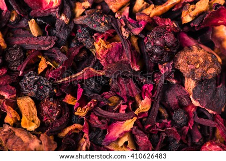 Loose tea , red . - stock photo