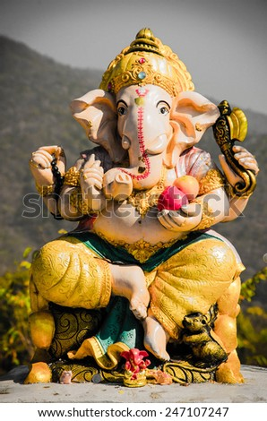 Lord Ganesh - stock photo