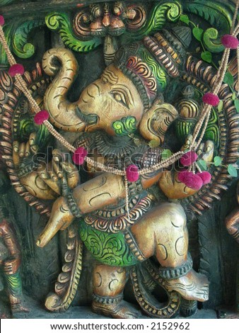lord ganesha in a standing pose - stock photo