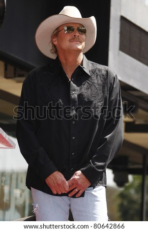 LOS ANGELES - APR 16: Alan Jackson at a ceremony where Alan Jackson receives the 2405th star on the Hollywood Walk of Fame, Los Angeles, California on April 16, 2010 - stock photo