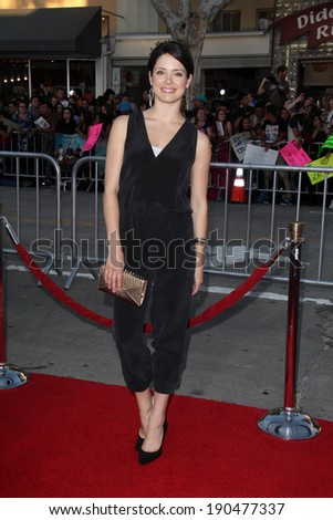 """LOS ANGELES - APR 28:  Ali Cobrin at the """"Neighbors"""" Premiere at Village Theater on April 28, 2014 in Westwood, CA - stock photo"""