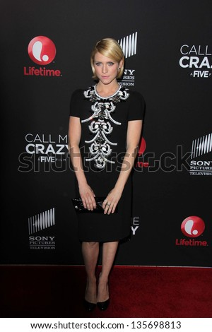 """LOS ANGELES - APR 16:  Brittany Snow arrives at the """"Call Me Crazy: A Five Film"""" Premiere at the Pacific Design Center on April 16, 2013 in West Hollywood, CA - stock photo"""