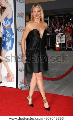 LOS ANGELES - APR 21:  Cameron Diaz arrives at the THE OTHER WOMAN LOS ANGELES PREMIERE   on April 21, 2014 in Westwood, CA                 - stock photo