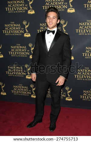 LOS ANGELES - APR 24: Casey Moss at The 42nd Daytime Creative Arts Emmy Awards Gala at the Universal Hilton Hotel on April 24, 2015 in Los Angeles, California - stock photo
