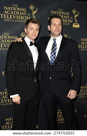 LOS ANGELES - APR 24: Chad Duell, Frank Valentini at The 42nd Daytime Creative Arts Emmy Awards Gala at the Universal Hilton Hotel on April 24, 2015 in Los Angeles, California - stock photo