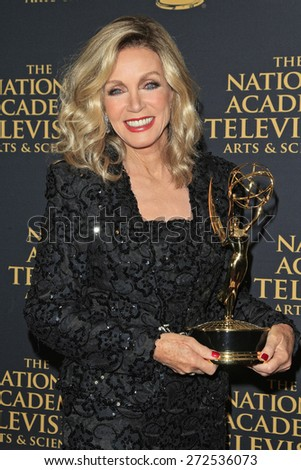 LOS ANGELES - APR 24: Donna Mills at The 42nd Daytime Creative Arts Emmy Awards Gala at the Universal Hilton Hotel on April 24, 2015 in Los Angeles, California - stock photo