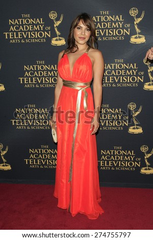 LOS ANGELES - APR 24: Elena Tovar at The 42nd Daytime Creative Arts Emmy Awards Gala at the Universal Hilton Hotel on April 24, 2015 in Los Angeles, California - stock photo