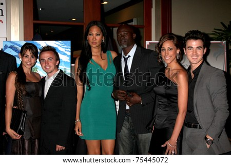 LOS ANGELES - APR 15:  Frankie Muniz, Kimora Lee, Djimon Hounsou, Kevin Jonas & Wife attending the 2011 Toyota Grand Prix Charity Ball at the Westin Long Beach on April 15, 2011 in Long Beach, CA. - stock photo