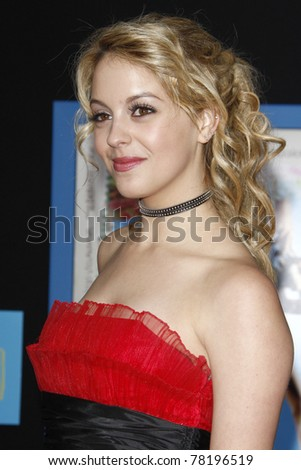 "LOS ANGELES - APR 21:  Gage Golightly arriving at the ""Prom"" Premiere at El Capitan on April 21, 2011 in Los Angeles, CA - stock photo"