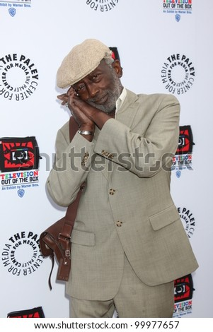 "LOS ANGELES - APR 12:  Garrett Morris arrives at Warner Brothers ""Television: Out of the Box"" Exhibit Launch at Paley Center for Media on April 12, 2012 in Beverly Hills, CA - stock photo"