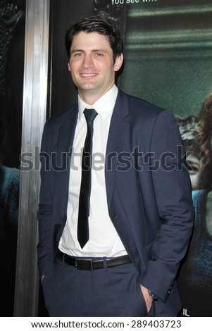 """LOS ANGELES - APR 3:  James Lafferty at the """"Oculus"""" Los Angeles Screening at the TCL Chinese 6 Theaters on April 3, 2014 in Los Angeles, CA - stock photo"""