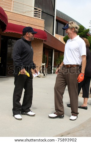 LOS ANGELES - APR 18:  Joe Pesci, Jack Wagner at the 2011 Jack Wagner Golf Classic to benefit The Leukemia & Lymphoma Society at Valencia Country Club on April 18, 2011 in Valencia , CA.. - stock photo