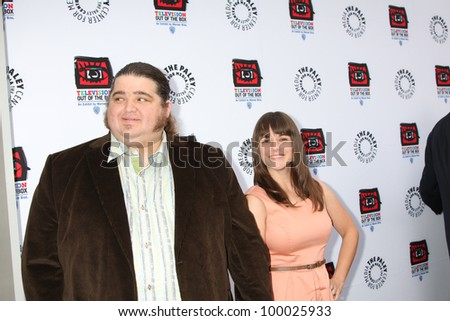 "LOS ANGELES - APR 12:  Jorge Garcia arrives at Warner Brothers ""Television: Out of the Box"" Exhibit Launch at Paley Center for Media on April 12, 2012 in Beverly Hills, CA - stock photo"