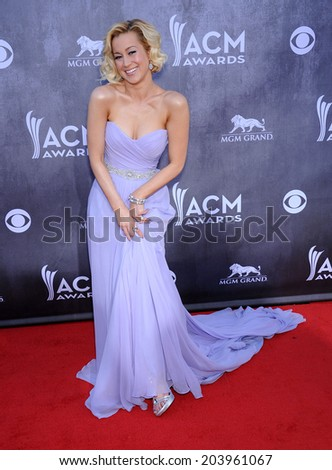 LOS ANGELES - APR 06:  Kellie Pickler arrives to the 49th Annual Academy of Country Music Awards   on April 06, 2014 in Las Vegas, NV.                 - stock photo
