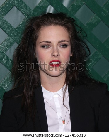 "LOS ANGELES - APR 13:  KRISTEN STEWART arriving to ""My Valentine"" World Premiere  on April 13, 2012 in Beverly Hills, CA - stock photo"