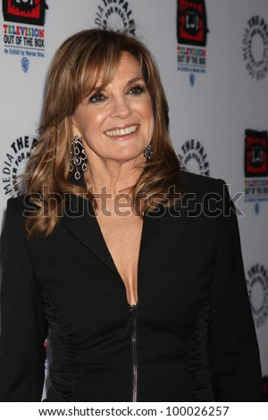 "LOS ANGELES - APR 12:  Linda Gray arrives at Warner Brothers ""Television: Out of the Box"" Exhibit Launch at Paley Center for Media on April 12, 2012 in Beverly Hills, CA - stock photo"